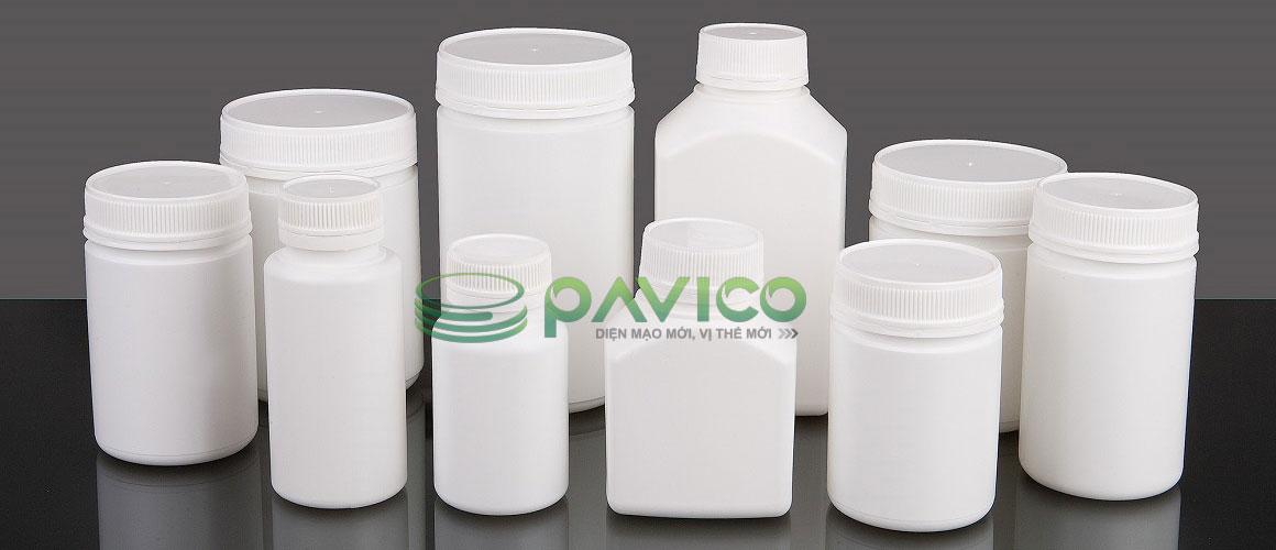 Chai lọ nhựa đựng dược phẩm thuốc viên