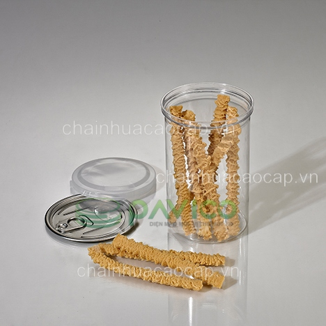 hũ nhựa thực phẩm nắp nhôm xé