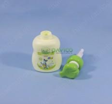 Chai lọ nhựa đựng sữa tắm trẻ em HDPE 420ml nắp bơm