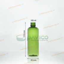 Chai nhựa pet 100ml 118mmx38mm