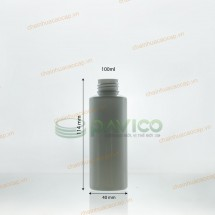 Chai nhựa pet 100ml xanh lá trắng sứ đen trong