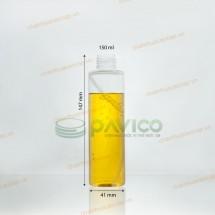 Chai nhựa pet 150ml dáng cao