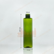 Chai nhựa PET 150ml dáng trụ cao
