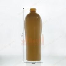 Chai nhựa pet bầu 500ml màu vàng