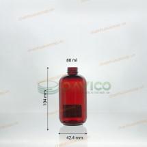 Chai nhựa pet đỏ trong thể tích 80ml