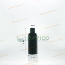 Chai nhựa pet trong 50ml xanh lá vàng