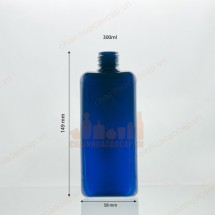 Chai nhựa pet xanh biển 300ml hình chữ nhật