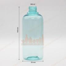 Chai nhựa pet xanh biển trong 300ml nắp bơm