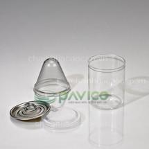 Hũ nhựa đựng đồ khô 250ml 63.3x78mm HTP-20