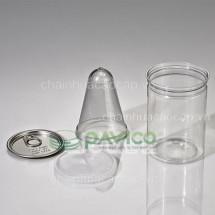 Hũ nhựa đựng thực phẩm 400ml 75x105mm HTP-27