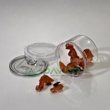 Hũ nhựa đựng thực phẩm đồ khô 280ml 83x61mm HTP-22