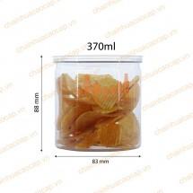 Hũ nhựa đựng thực phẩm nắp nhôm xé 370ml