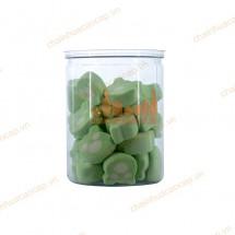 Hũ nhựa đựng thực phẩm nắp nhôm xé 480ml