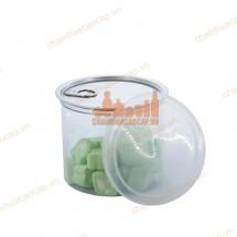 Hũ nhựa đựng thực phẩm nắp nhôm xé 600ml lùn