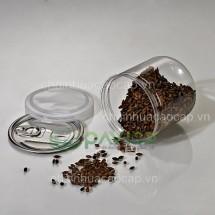 Hũ nhựa nắp nhôm xé 360ml 83.3x85.5mm HTP-24