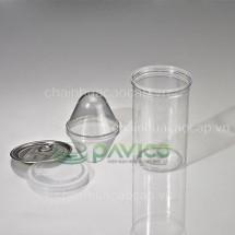 Hũ nhựa nắp nhôm xé 650ml 83.3x134mm HTP-29