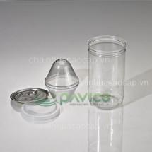 Hũ nhựa nắp nhôm xé 750ml 83.3x150mm HTP-31