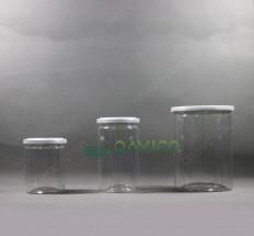 Hũ nhựa nắp nhôm xé - 400ml