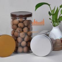 Hũ nhựa pet dáng trụ tròn đựng hạt sấy các loại 600ml