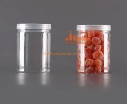 Hũ nhựa pet nắp nhựa trong dáng nhỏ