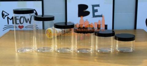 Tổng hợp hũ nhựa pet trong nắp nhựa các loại