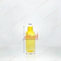 Vỏ chai nhựa pet 50ml màu vàng chanh