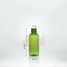 Vỏ chai nhựa PET 50ml nhiều màu sắc