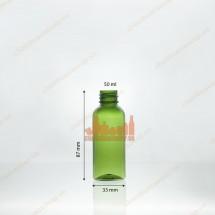 Vỏ chai nhựa pet 50ml xanh lá