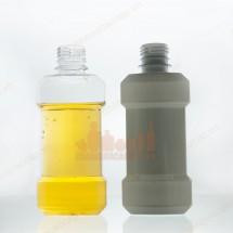 Vỏ chai nhựa pet listerin 200ml nhựa trong trắng sứ