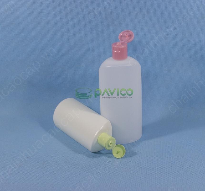 Chai lọ nhựa đựng sữa tắm 500ml