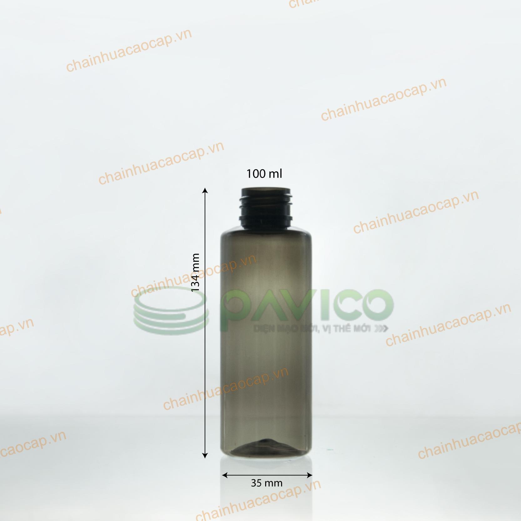 chai nhựa pet 100ml màu đen