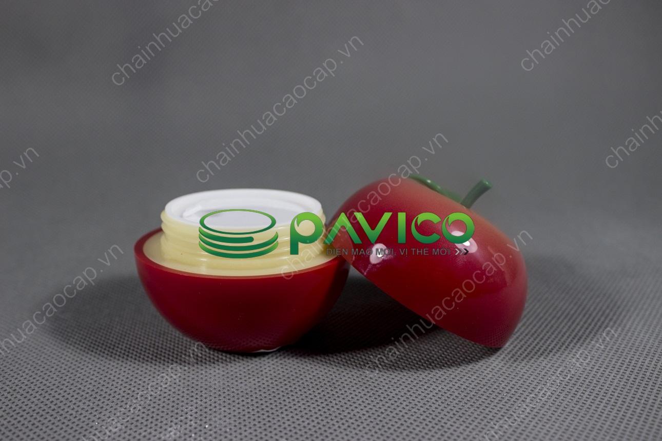 hũ đựng kem mỹ phẩm hình táo