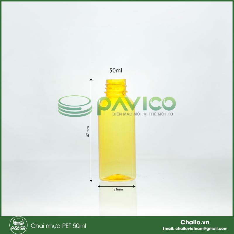 vỏ chai nhựa 50ml