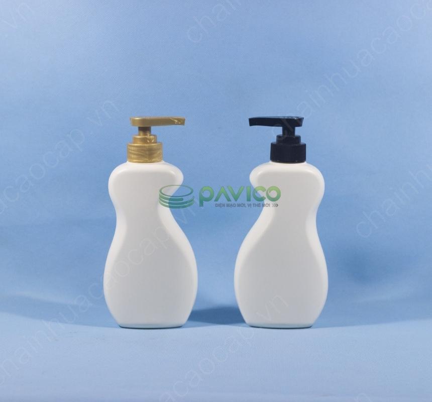 vỏ chai nhựa dầu gội
